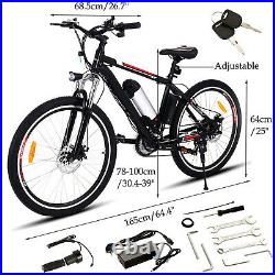 Electric Bike E-Bike Mountain 26 Bicycle 250W 36V Motor CityBike Cycling 35km/h