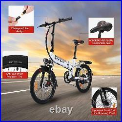 Electric Bike Folding Mountain Bike 20inch E-Bike City Bicycle 350W Motor 36V UK
