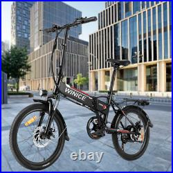 Electric Bike Mountain e-bike, 20'' Electric Assisted Bicycle 350W Motor, 7 Speed