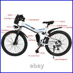 Electric Bikes 26 E-Bike 250W Motor Folding Electric Mountain Bike 36V UK Plug