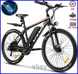 Electric Bikes 26 Electric Mountain Bike 36V 350W Motor E-Bike Commuter Bicycle