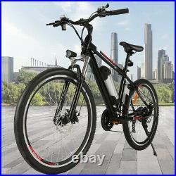 Electric Bikes 26 in E-Bike 350W Electric Mountain Bike Commuter Citybike Black