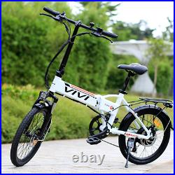 Electric Bikes E-Bike Mountain Bike 20'' Folding E-City Bike Bicycle 350W Motor