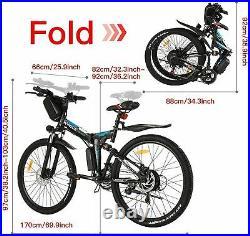 Electric Bikes E-Bike Mountain Bike 26 Folding E-Bike City Bicycle 250W Motor