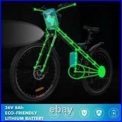 Electric Bikes Electric Mountain Bike 26 Folding Citybike Ebike Cycling 250W UK