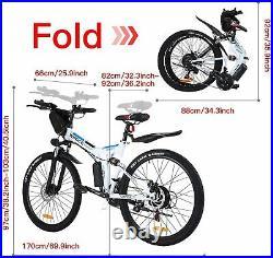 Electric Bikes Electric Mountain Bike 26 Folding E-Bike 250W Motor City-Bicycle