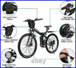 Electric Bikes Electric Mountain Bike 26 Folding E-Bike High Motor Bike (Black)
