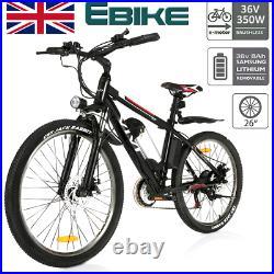 Electric Bikes Mountain Bike 26'' E-Citybike Bicycle Cycling 350W 35km/h Motor