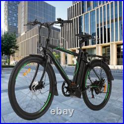 Electric Bikes Mountain Bike 26'' Ebike E-Citybike Bicycle 25km/h 36V 250W Motor