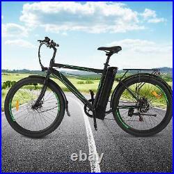 Electric Bikes Mountain Bike 26 Ebike E-Citybike Bicycle Motor 250W Black UK A