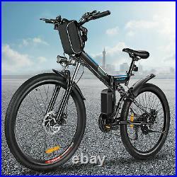 Electric Bikes Mountain Bike 26'' Folding Ebike E-Citybike Bicycle 250W 36V 8AH