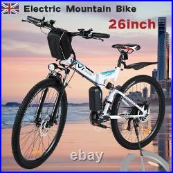 Electric Bikes Mountain Bike 26 Folding Ebike E-Citybike Bicycle 25km/h 350W UK