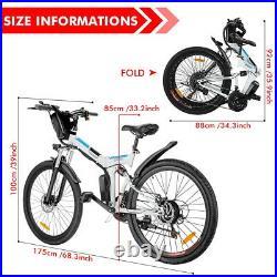 Electric Bikes Mountain Bike 26 Folding Ebike E-Citybike Bicycle 35km/h 250W UK
