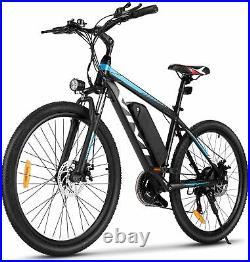 Electric Bikes Mountain Bike 26in Ebike E-Citybike Bicycle, 36V 10.4AH 350W Motor
