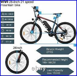 Electric Bikes Mountain Bike 26in Electric Bicycle 350w Motor E-bike For Adults