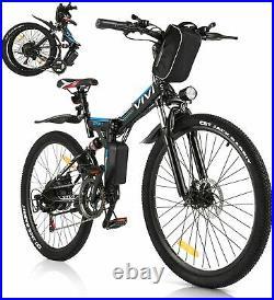 Electric Bikes Mountain Bike 26inch Folding Ebike 250W E-Citybike Bicycle Unisex