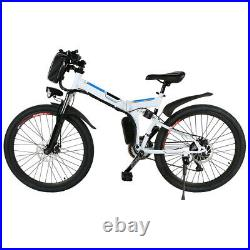 Electric Mountain Bike 26 Folding Ebike E-Citybike Bicycle 250W Motor 21-speed