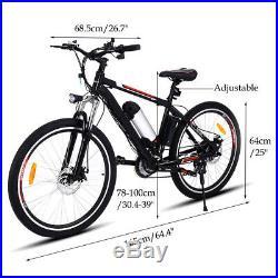 Electric Mountain Bike 26in Electric Bicycle Citybike 250W Motor 35km/h E-Bike