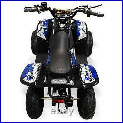 Electric Quad Bike 1500W Equivalent Motor, Big 48V Kids, 3 Speed, 20mph, Blue