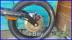 Electric motor bike ebike full suspension 1500w NEW BATTERY UK support