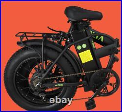 Fat Tyre Folding Electric Bike 250W Motor 48V Battery E-Bike UK Road Legal