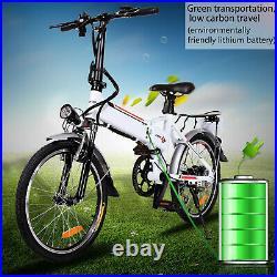 Folding Electric Bike 20 Inch Commuter E-Bike Electric Bicycle 250W Motor 7Speed
