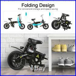 Folding Electric Bike E-Bike Moped Bicycle City Bike 14 Wheel 25km/h 250W Motor