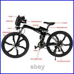 Folding Electric Bike Electric Mountain Bike 26 EBike Bicycle 21 Speed Gears UK