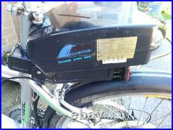 Kudos 21 shimano geered electric mountain bike. 36v x 10 amp motor and battery