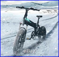 M1 Folding Electric Bike 20 In Fat Tires 250W Motor 7 Speeds 12.5A