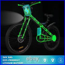 Man&Woman E-Bike 26 Folding Electric Mountain Bikes 250W Motor SHIMANO 21 Speed