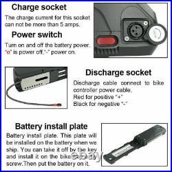 NEW UPP 52V 13Ah 1000W E-Bike Li-ion Battery Electric Bike for 48v & 52V Motors