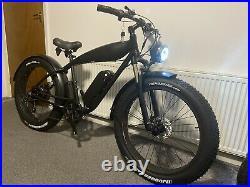 New Custom Built Beach Cruiser Electric Bike 26inch Fat 48V 750W Rear Hub Motor