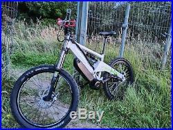 Orange DH Electric Downhill Mountain Bike New Bafang BBSHD 1600w Motor, 58v 12ah