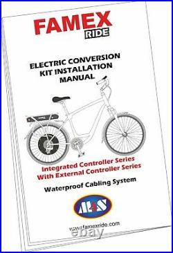 Professional Electric Bicycle Conversion Kit E Bike Rear Wheel Motor 2000W 48V