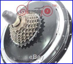 Risunmotor 48V 1500W Brushless Gearless Threaded Rear Hub Motor Electric Bike