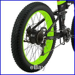 T500 Electric Bike Back Wheel Included Motor Green Black
