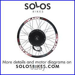 UK 72V 3000W Electric Bicycle Rear Hub Motor Conversion Kit E-Bike Wheel 26'