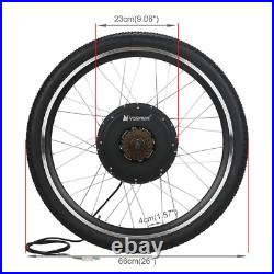 Voilamart 26 Rear Wheel 48V 1000W Electric Bicycle E Bike Motor Conversion Kit