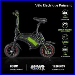 Windgoo B3 Folding E Bike 360W motor Electric Scooter Bicycle Black