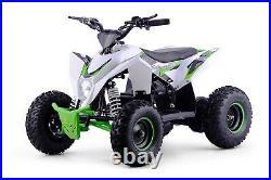XTREME XTM Racing 36V 1000W Motor Kids Childs Electric Quad Bike White Green